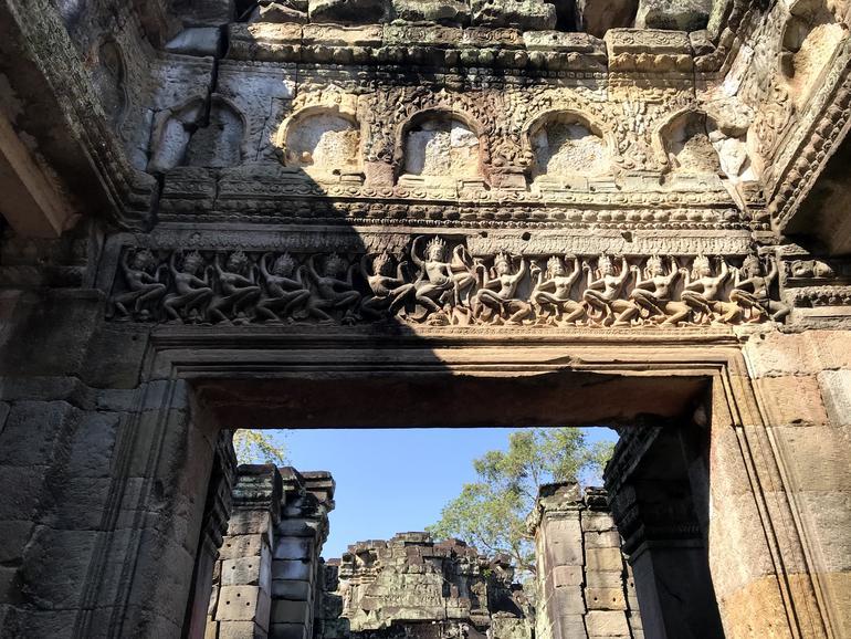 Hall of Dancers bas relief at Preah Khan.