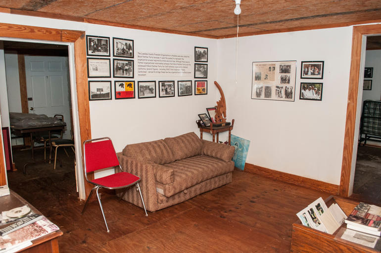 An interior room of the Jackson SNCC House, where the group's workers lived and organized during their time in the county. Photo by Billy Brown.