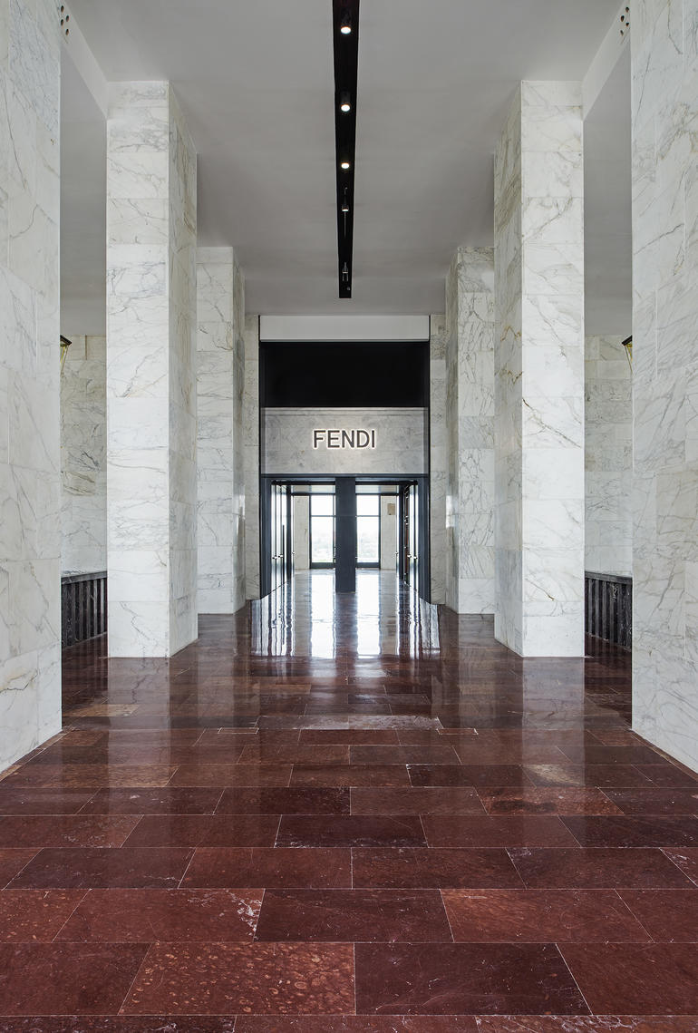 Fendi HQ main entrance following renovation, 2016