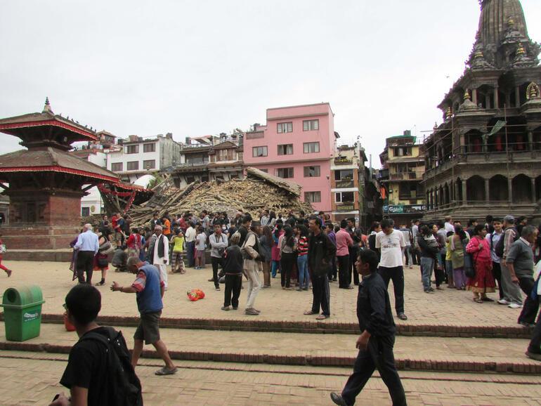 Char Narayan Temple, Nepal, after the April 25, 2015, earthquake