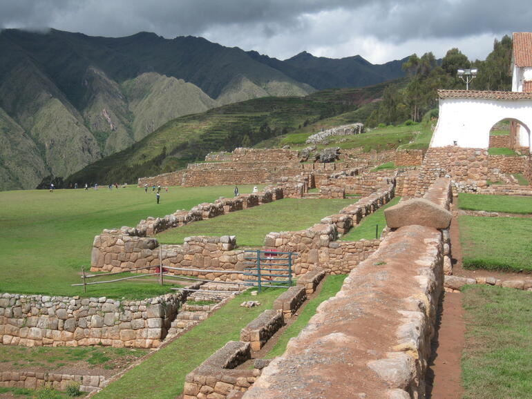 Ancient terraces near the church in Chinchero, 2017.