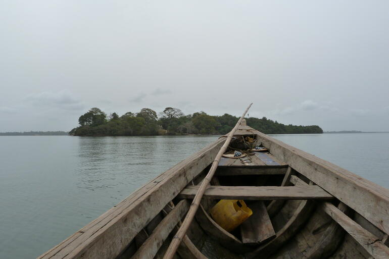 View of Bunce Island from the Sierra Leone River.