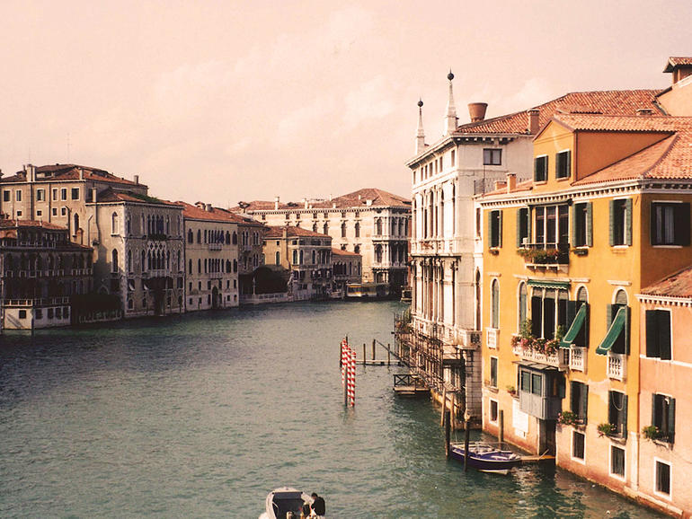 View of Venice from the Canal in 2000