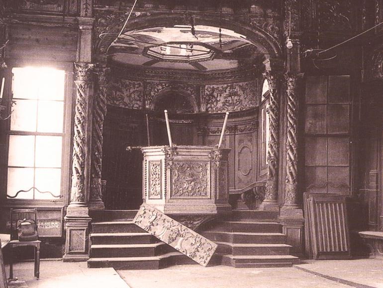 Interior of the Schola Canton before restoration, 1972