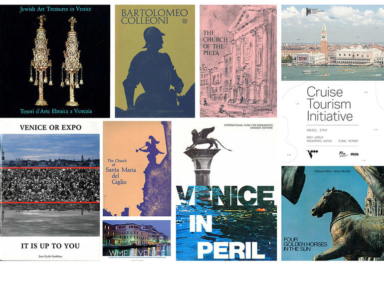 A selection of the publications about Venice and Venetian monuments and sites sponsored by WMF since 1966