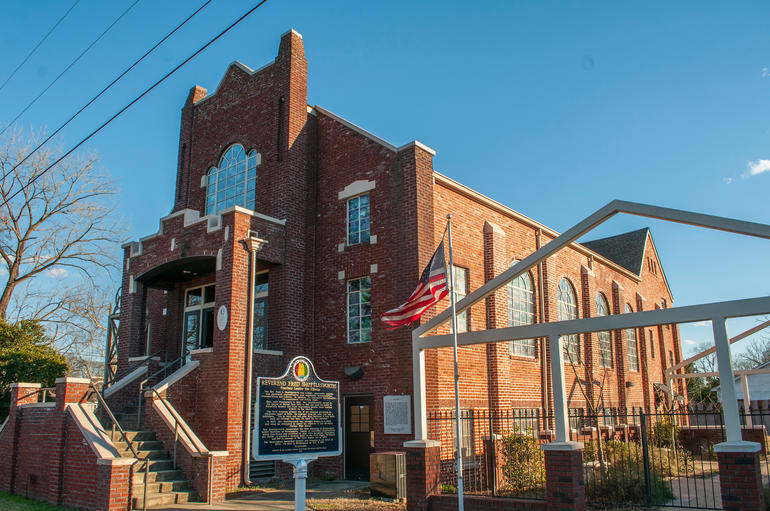 The exterior of Historic Bethel Baptist Church in Birmingham, Alabama. Photo by Billy Brown.