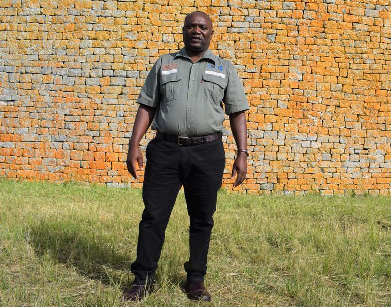 Lovemore Mandima at Great Zimbabwer.
