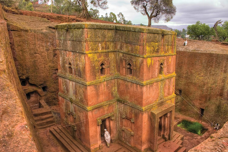 Bet Giyorgis within the Lalibela complex of rock-hewn churches.