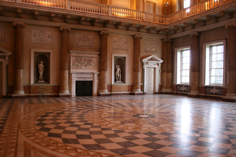 The marble saloon at Wentworth Woodhouse, a 2016 World Monuments Watch site.