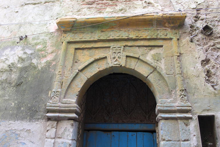A Star of David ornament above a doorway in the Mellah