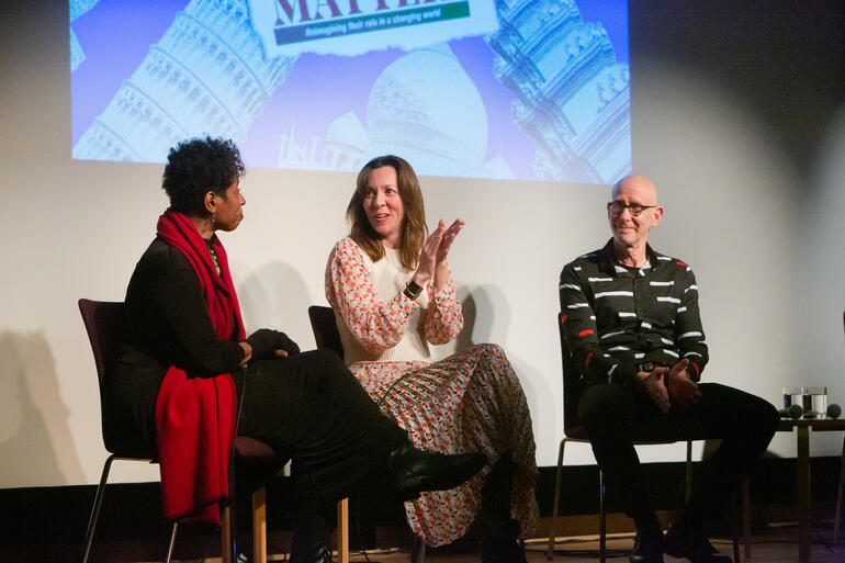From left: Vinnie Bagwell, Jenny Moore, and Mark Jarzombek.