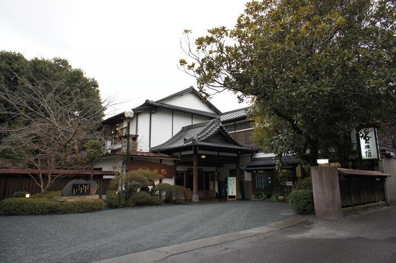 Hitoyoshi Ryokan front entrance before the flood.