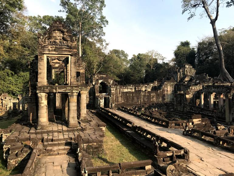 Two story pavilion within Preah Khan.