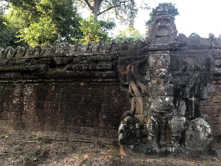Garudas stand guard over Preah Khan.