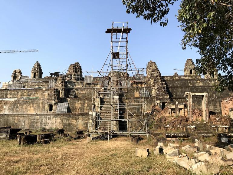 Easter side of Phnom Bakheng, currently under restoration.