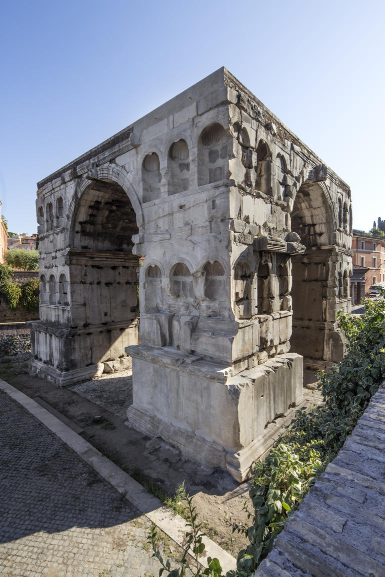 Arch of Janus following partial restoration of its facade.