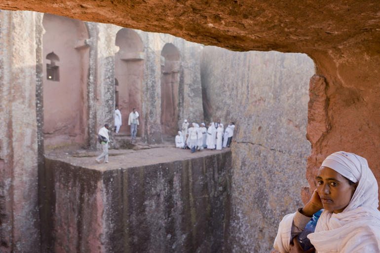 The rock-hewn churches of Lalibela, Ethiopia, as captured by Iwan Baan.