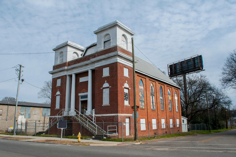 Mt. Zion AME Zion Church in Montgomery, Alabama. Photo by Billy Brown.
