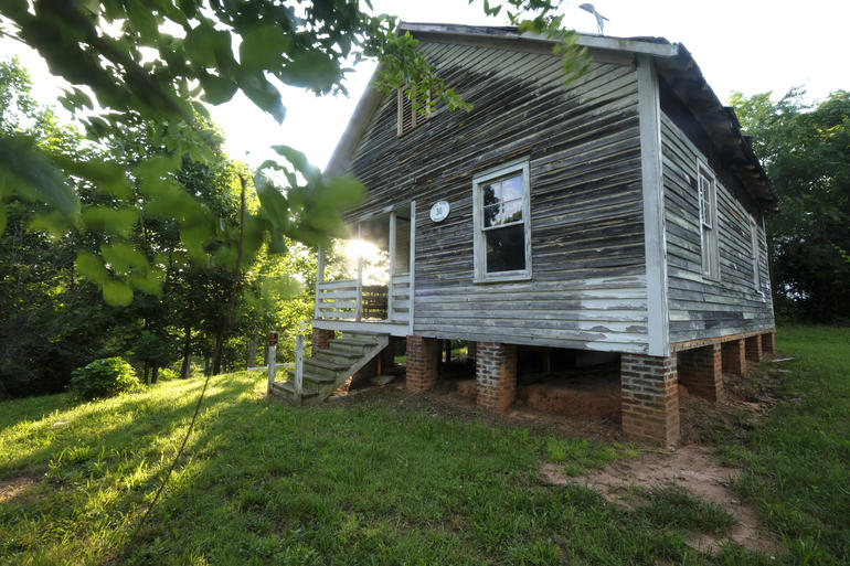 Nina Simone's childhood home in Tryon, North Carolina.