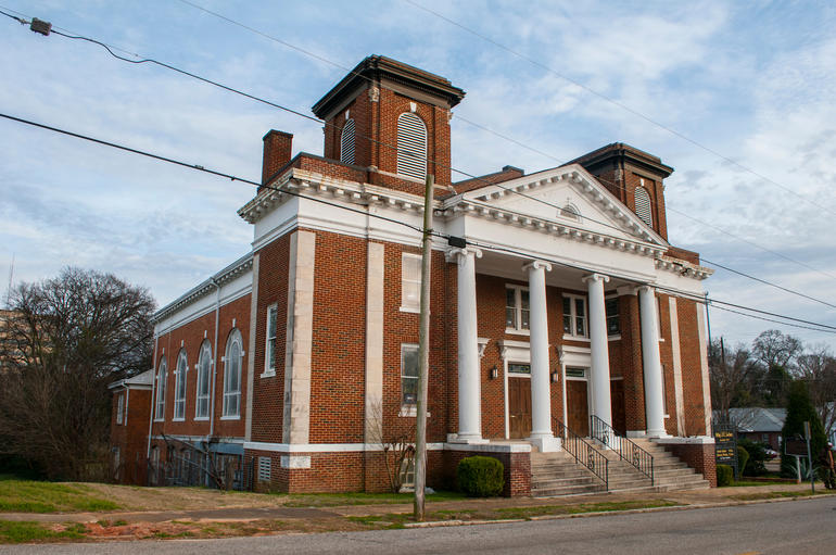 The exterior of Old Ship AME Zion Church in Montgomery, Alabama. Photo by Billy Brown.
