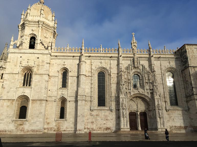 The conserved facade of Jeronimos Church and Monastery.