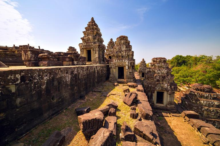 A  view of Phnom Bakheng temple at Angkor Archaeological Park in Siem Reap, Cambodia.