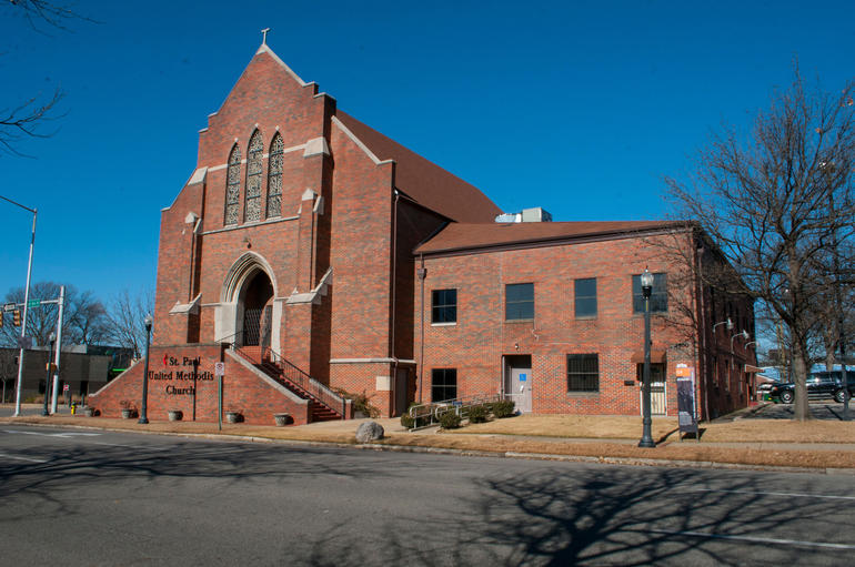 St. Paul United Methodist Church in Birmingham, Alabama. Photo by Billy Brown.