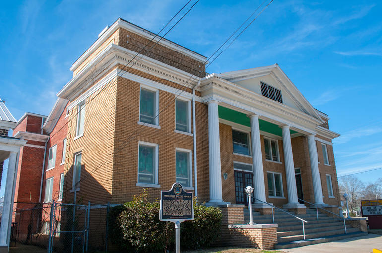 Tabernacle Baptist Church in Selma, Alabama. Photo by Billy Brown.