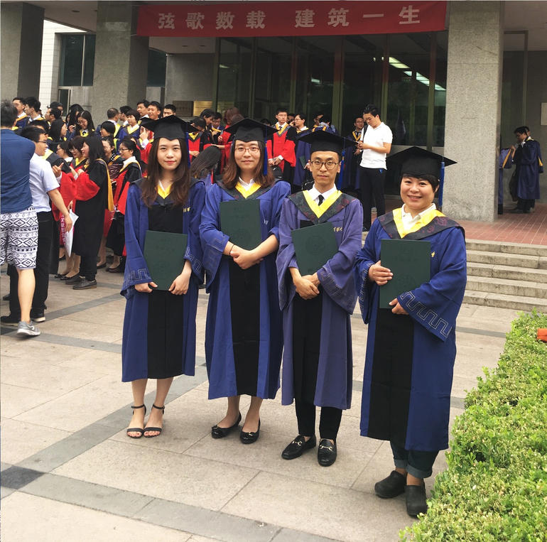 CRAFT students at the Tsinghua University graduation ceremony.