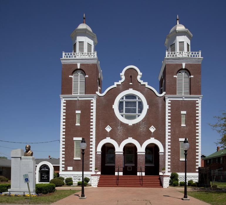 The exterior of Brown Chapel A.M.E. Church in Selma, Alabama.