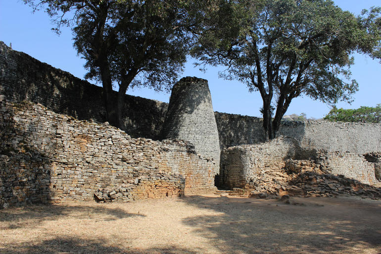 Great Zimbabwe conical tower, 2015.