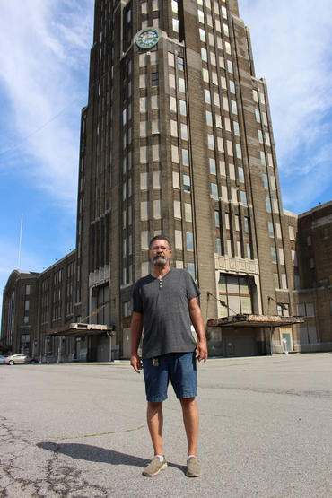 Slawiak outside Buffalo Central Terminal.