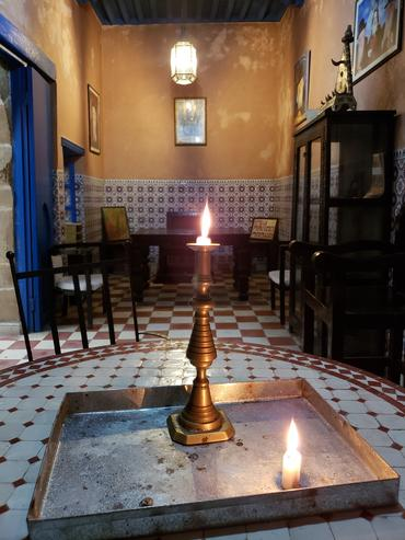Pinto Synagogue in the Jewish Quarter of Essaouira.