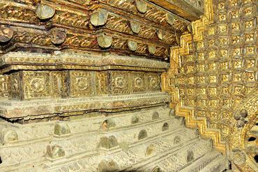 Close-up of the Buddha Throne pedestal.