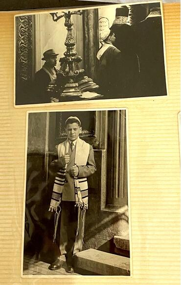 My dad's bar mitzvah, Choral Synagogue, Bucharest, Romania (courtesy of the Langsner Family)