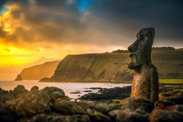 Rapa Nui National Park on Easter Island, Chile.