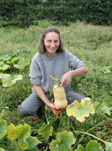 Christine displays crops from Potager du Roi.