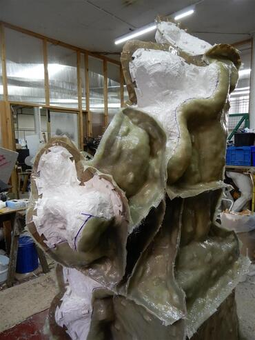 Moulding of the Laocoön statue copy now featured at Stow House, 2019