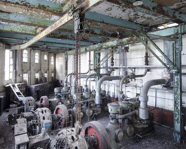 Compressors still remain intact in the factory