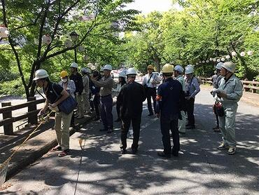 ICOMOS on-site survey with WMF participation after the earthquake at Kumamoto.