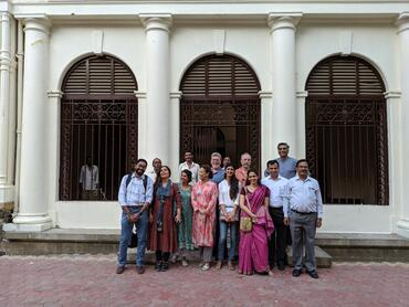 The author with touring Lal Bagh Palace with the group of professionals.