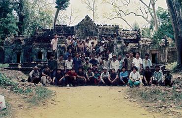 WMF visits Angkor Archaeological Park in 1991.