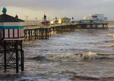 Blackpool Piers in Blackpool, United Kingdom.