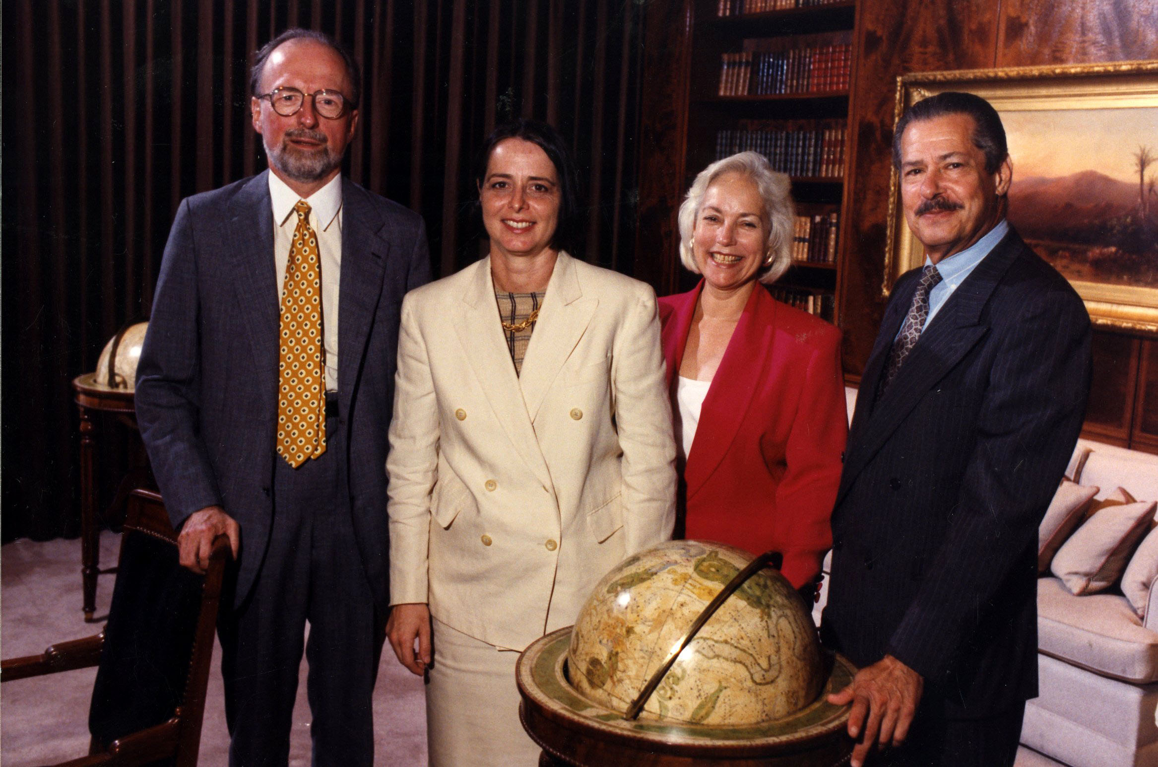 From left, Bob Wilson, Bonnie Burnham, Marilyn Perry, and H. Peter Stern.