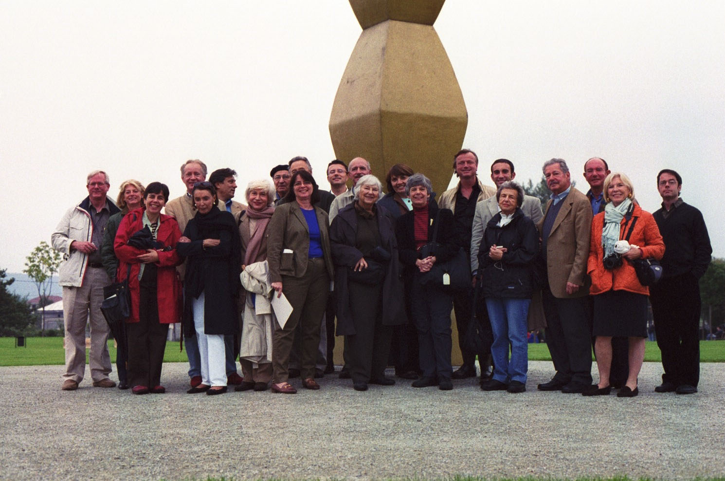 H. Peter Stern and a WMF group in front of Brancusi's Endless Column